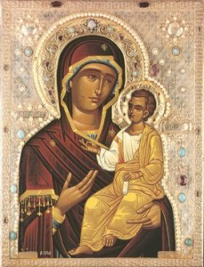 Theotokos Iverskaya Wikimedia Art for post on feminism and reversion