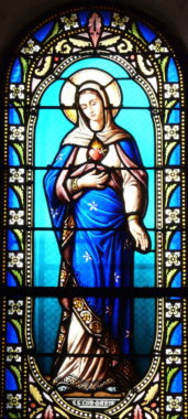 ImmaculateHeartOfMarySCapraiseDeLalindeEgliseVitrail(2) Immaculate Heart of Mary