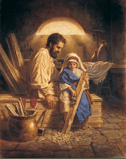 FatherAndSonByCorbertGauthier(StJosephJesusChrist) for post on the Solemnity of Saint Joseph